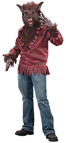 Unbekannt Werwolf Kostüm Braun - Einheitsgröße für Erwachsene