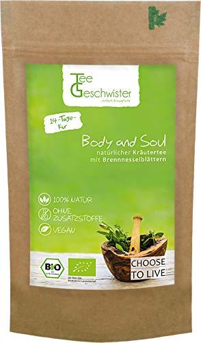 BIO Body and Soul | basischer Kräutertee zur Begleitung einer Detox Diät oder Entschlackungskur | ohne Zusatzstoffe | Tee-Geschwister | 85g