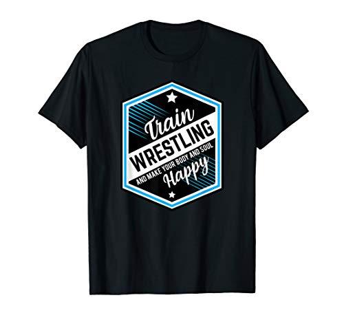 Ringen und Raufen macht Glücklich. Wrestling Ringer T-Shirt