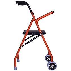 Support pour Cadre de Marche à roulettes à Hauteur réglable Mobilité Personnes âgées handicapées Fauteuil Roulant Walker avec siège désactivé