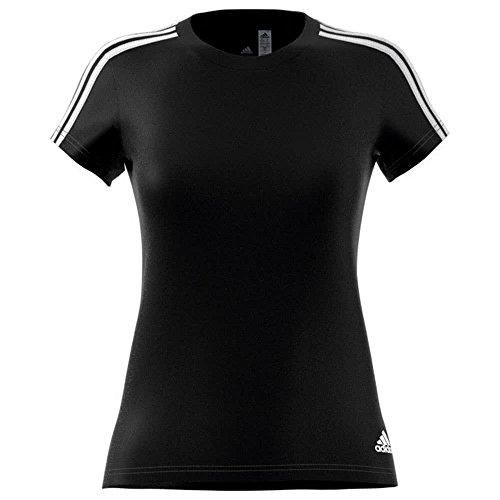 Adidas Ess 3S Slim Tee Shirt, Damen XXL Schwarz (Schwarz / Weiß) Preisvergleich