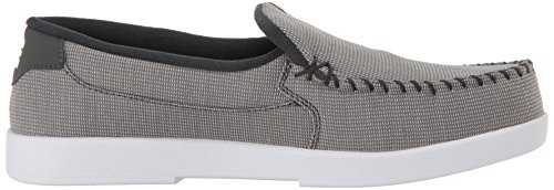 Dc Shoes Mens Villain Slip-on Low Top Chaussures Gris / Blanc