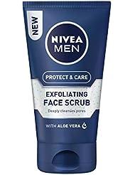 NIVEA MEN Protect & Care Exfoliating Face Scrub Pack of 3 (3 x 75ml), Invigorating Men's Face Scrub and Face Cleanser with Aloe Vera, Exfoliating Face Wash