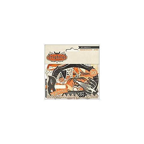 Frightful Mixed Bag Cardstock Die-Cuts 36/Pkg-W/Glitter Accents (Cut Accent)