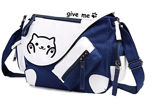 Yoyoshome Neko Atsume anime Cat Backyard Cosplay zaino messenger bag borsa a tracolla blu Blue2 Blue1