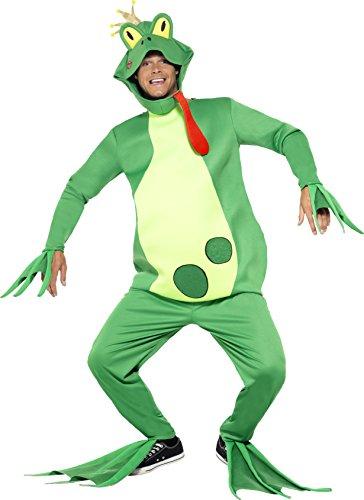 Top Kostüm Herren 100 - Smiffy's 43389 - Frog Prince Kostüm Top mit festen Händen Handschuhee Hosen Kopfstück und Füße Covers