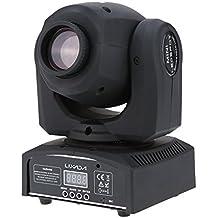 Lixada Profesional PAR LED Luz de Escenario de Cabeza Giratorio Canal 9/11 RGBW DMX-512 con Formas Automático 25W AC 100-240V
