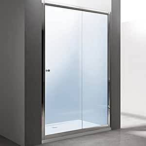 Porte de douche coulissante paroi de douche pare douche verre de s curit vit - Pare douche coulissante ...