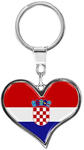 metALUm Schlüsselanhänger aus Metall/Flagge Kroatien / 6611059S
