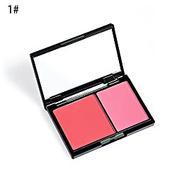 ADU Women Face Dual Color Blush Powder Cheek Party Daily Makeup Cosmetic Tool (1)
