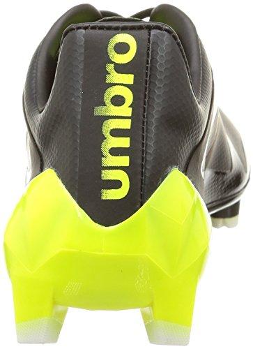 Umbro Velocita Pro Hg, Football Compétition homme Noir (Noir/Jaune Fluo/Blanc)