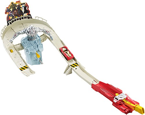 Hot Wheels Circuito para coches de juguete Los Vengadores (CDD27)