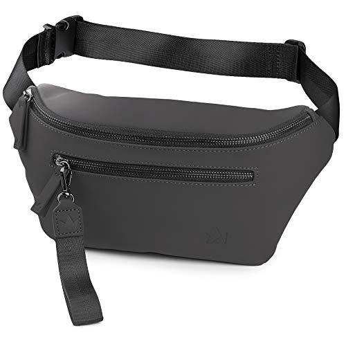 Damen : Elegante Hüfttasche in schwarz und grau stylisches