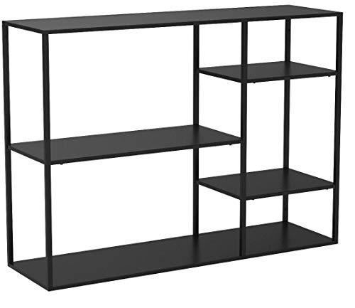 Woood Konsolentisch Sideboard Konsole June Metall Industrie Design schwarz (inkl. Wohnzeitschrift)