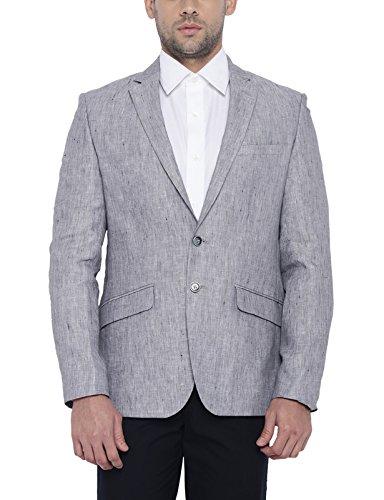 Park Avenue Men Linen Dark Grey Regular Fit Jackets