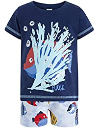 Tuc Tuc Camiseta+Bermuda Punto Peces Niã±o Arrecife de Cora fffa175d1a9