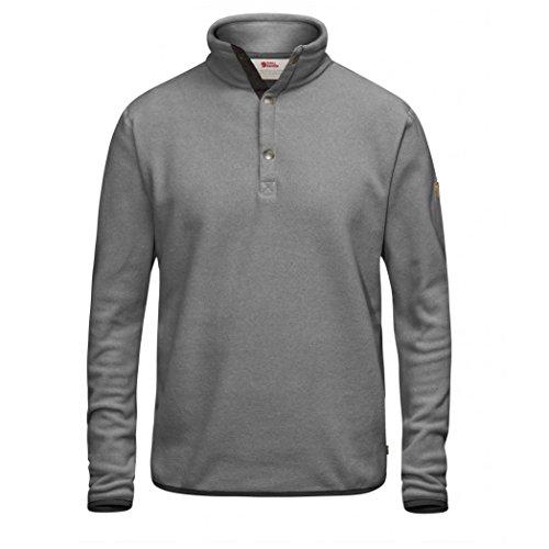 Fjällräven Herren Övik Fleece Sweater Fleecepullover, Grey, L