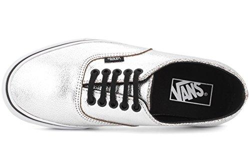 Vans U Authentic Decon, Baskets Basses Mixte Adulte (metallic) silver/black