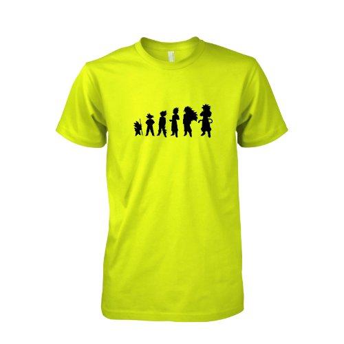 TEXLAB - Goku Evolution - Herren T-Shirt Gelb