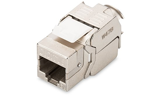 DIGITUS Professional CAT6A Keystone Modul, geschirmt, Bis zu 500 MHz, 10GBase-T, werkzeugfreie Montage (Jack-modular-stecker)