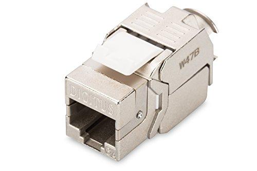 Cat6a-buchse (DIGITUS Keystone-Modul - Cat-6A - Geschirmt - RJ45 - Klasse EA - 500 MHz - 10GBase-T - Montage Werkzeugfrei)