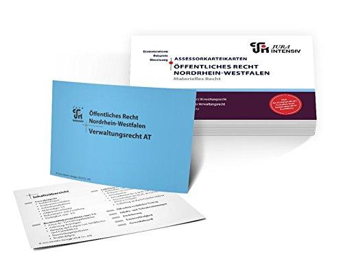 Assessor Karteikarten ÖR NRW - Materielles Recht: Allgemeines Verwaltungsrecht, besonderes Verwaltungsrecht & Prozessrecht (Assessor Karteikarten NRW)