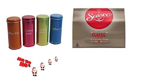 Senseo - Classic Kaffeepads - 16.St/111g +4 Paddosen + Schokostreuer ein ideales Geschenk für...