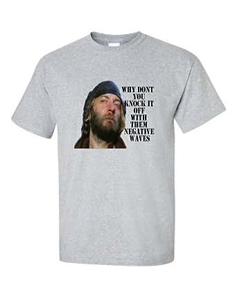 Oddball Negative Waves Kellys Heroes T-Shirt (Small, Grey)