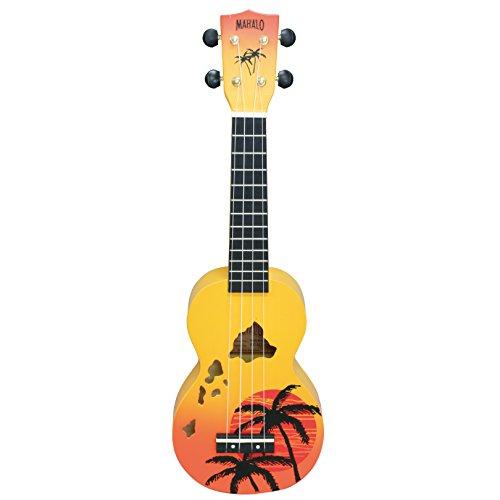 Mahalo MD1HA ppb Mahalo Designer Ukulele Soprano Orange Burst