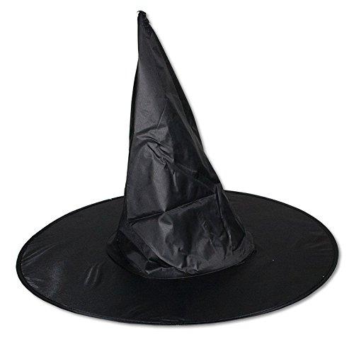 1 x Hexenhut für Erwachsene Hexe Halloween Karneval Party Hut Fasching Zauberer (Halloween-hexe-hüte)