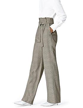 [Patrocinado]FIND Pantalón de Cuadros Estilo Sastre para Mujer