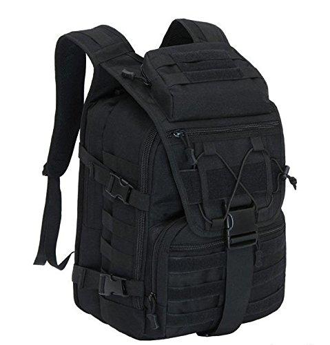 Taktischer Rucksack / Military Rucksack / Molle Rucksack / Assault Pack / Bug Out Tasche für Jagd Schießen Camping Wandern Reisen Schule Schwarz