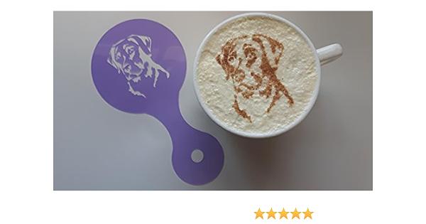 Garispace 12pcs 10cm Coffee Decorating Stencils Cute Animal Dog Pattern PET Latte Art Stencils Coffee Stencils Sugar Shaker Stencil Barista Template