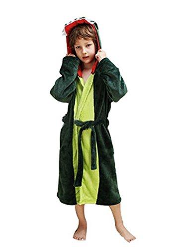 Woneart Kinder Bademantel/Morgenmantel mit Kapuze Robe Nachtwäsche Schlafanzug -