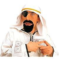 NET TOYS Set da sceicco arabo con copricapo barba benda occhio Carnevale 5a87ce0665d4