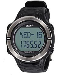 Foxpic Wasserdichte Elektronische Sportuhr Pulsuhr Armbanduhr Herzfrequenzmesser Uhr mit Schrittzähler
