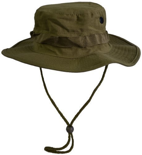 MFH Us kinnband gi booniestop - Sombrero de caza, tamaño XL, color oliva