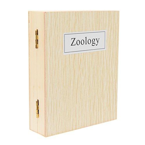TS-Optics 25 Stück Zoologie Dauerpräparate Objektträger Deckgläser für Mikroskope mit Insekten Kleintier in Holzbox mit deutscher Beschriftung. tsmdpz