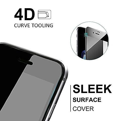 iPhone 7 Schutzfolie, LFOTPP [4D Full Coverage] Panzerglas Schutzfolie für Apple iPhone 7, 3D Touch Kompatibel, 9H Härte, Anti-Fingerabdruck (schwarz)
