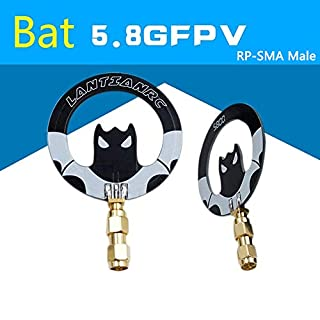 AOKFLY 5.8G FPV Antenna Panel Bat 5dbi Gain Flat Mini Anttenna RP-SMA Male for RC FPV Multicopter Racing Drone
