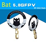 AOKFLY 5.8G FPV Antenna Panel Bat 5dbi Gain Flat Mini Anttenna SMA/RP-SMA Male for RC FPV Multicopter Racing Drone