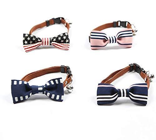 Lindou Hundehalsband, Zubehör für Haustiere, Krawatten, britischer Hals, Zubehör für kleine und mittelgroße Hunde. Blaue Streifen Blau, gestreift - Britische Streifen-krawatte