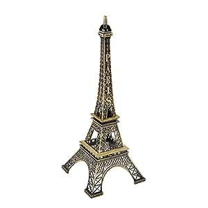 SOLEDI La Tour Eiffel Figurine en Miniature Bronzé Decoration De Chambre 30CM