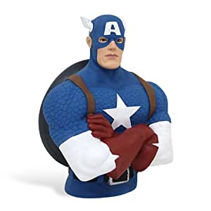 MARVEL UNIVERSE BUST BANK ASSR by Captain america
