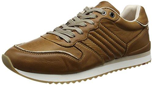 LLOYD Herrenschuh EDICO, sportiver Sneaker aus Leder mit heller Gummisohle, Braun (New Nature 2), 44 EU