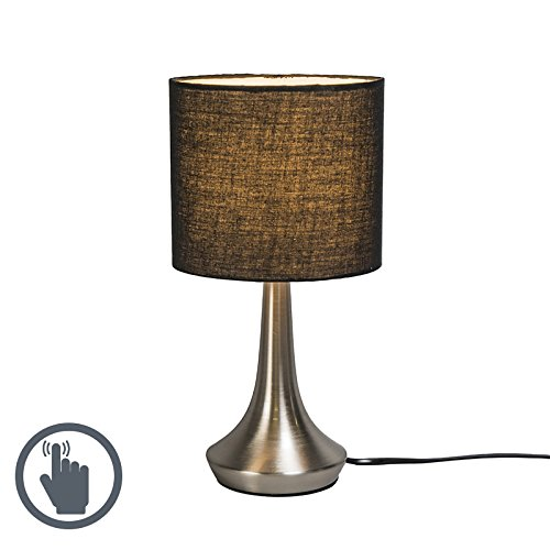 qazqa-clasico-antiguo-industrial-moderno-lampara-de-mesa-milo-1-redonda-negra-metal-textil-redonda-e