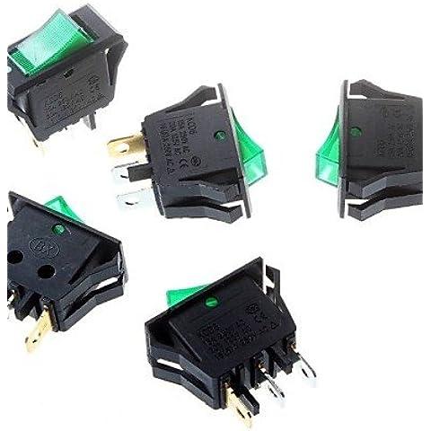 DNGY*Interruttore a bilanciere verde 16 * 32mm treppiede 3P di alimentazione interruttore a bilanciere