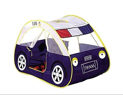 LIVEBOX Faltbares Pop Up Kinder Spielhaus / Schloss / Zelt / Den Ideal für Indoor & Outdoor Nutzung Play Zelt ohne Installation - (Police Car)