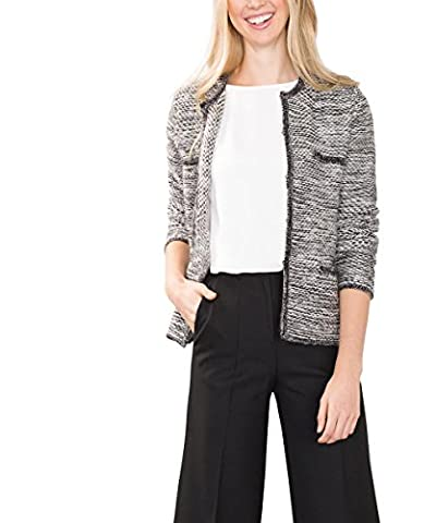 ESPRIT Collection Damen Strickjacke 106EO1I013, Grau (Gunmetal 5 019), 38 (Herstellergröße: M)
