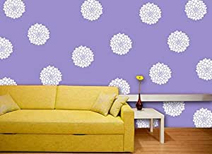Gallerist DIY Wall Painting Stencil: Glossy Modern Flower Wall Design Stencils for Wall Painting, 1 Stencil (Size 12x12 inches) | Reusable